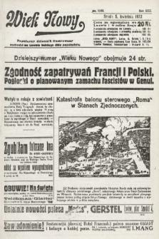 Wiek Nowy : popularny dziennik ilustrowany. 1922, nr6245