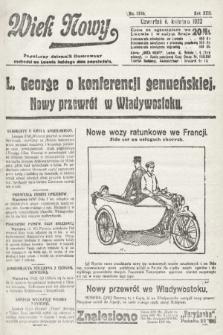 Wiek Nowy : popularny dziennik ilustrowany. 1922, nr6246