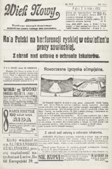 Wiek Nowy : popularny dziennik ilustrowany. 1922, nr6247