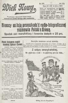 Wiek Nowy : popularny dziennik ilustrowany. 1922, nr6252