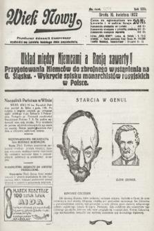 Wiek Nowy : popularny dziennik ilustrowany. 1922, nr6256
