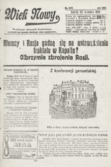 Wiek Nowy : popularny dziennik ilustrowany. 1922, nr6259
