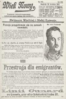 Wiek Nowy : popularny dziennik ilustrowany. 1922, nr6260