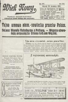 Wiek Nowy : popularny dziennik ilustrowany. 1922, nr6261