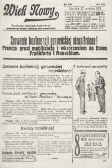 Wiek Nowy : popularny dziennik ilustrowany. 1922, nr6263