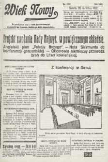 Wiek Nowy : popularny dziennik ilustrowany. 1922, nr6265