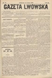 Gazeta Lwowska. 1898, nr43