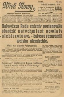 Wiek Nowy : popularny dziennik ilustrowany. 1919, nr5525