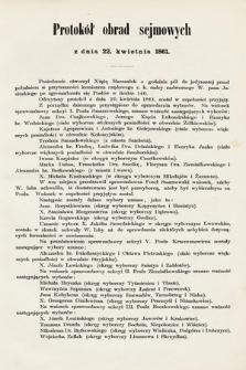 [Kadencja I, sesja I, pos. 5] Protokół obrad sejmowych