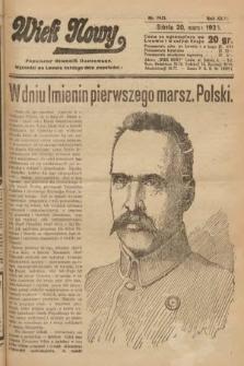 Wiek Nowy : popularny dziennik ilustrowany. 1926, nr7421