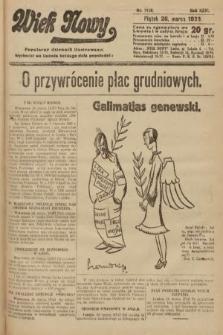 Wiek Nowy : popularny dziennik ilustrowany. 1926, nr7426