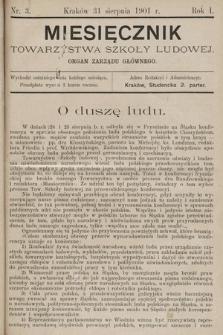 Miesięcznik Towarzystwa Szkoły Ludowej : organ Zarządu Głównego. 1901, nr3
