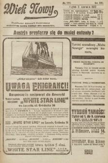 Wiek Nowy : popularny dziennik ilustrowany. 1922, nr6292