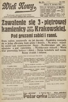 Wiek Nowy : popularny dziennik ilustrowany. 1922, nr6293