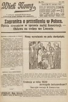 Wiek Nowy : popularny dziennik ilustrowany. 1922, nr6302