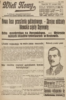 Wiek Nowy : popularny dziennik ilustrowany. 1922, nr6307