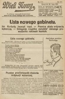 Wiek Nowy : popularny dziennik ilustrowany. 1922, nr6330