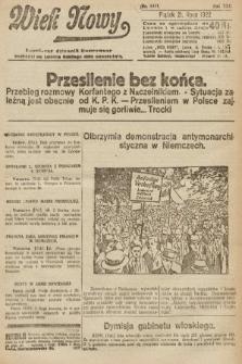 Wiek Nowy : popularny dziennik ilustrowany. 1922, nr6331