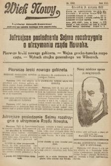 Wiek Nowy : popularny dziennik ilustrowany. 1922, nr6342