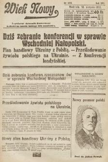 Wiek Nowy : popularny dziennik ilustrowany. 1922, nr6351