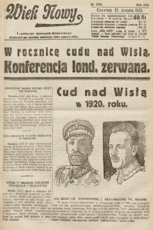 Wiek Nowy : popularny dziennik ilustrowany. 1922, nr6353
