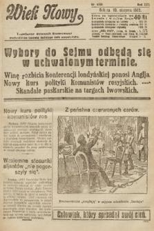 Wiek Nowy : popularny dziennik ilustrowany. 1922, nr6355