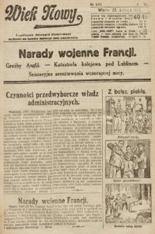 Wiek Nowy : popularny dziennik ilustrowany. 1922, nr6357