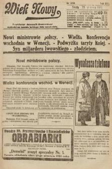 Wiek Nowy : popularny dziennik ilustrowany. 1922, nr6358