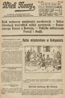 Wiek Nowy : popularny dziennik ilustrowany. 1922, nr6359