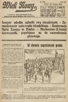 Wiek Nowy : popularny dziennik ilustrowany. 1922, nr6360