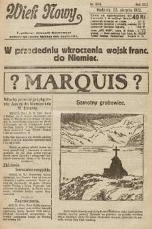 Wiek Nowy : popularny dziennik ilustrowany. 1922, nr6362