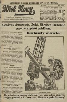 Wiek Nowy : popularny dziennik ilustrowany. 1924, nr7008