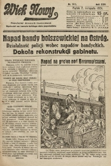 Wiek Nowy : popularny dziennik ilustrowany. 1924, nr7012