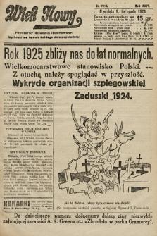 Wiek Nowy : popularny dziennik ilustrowany. 1924, nr7014