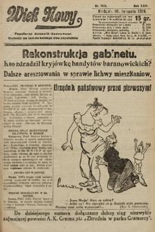 Wiek Nowy : popularny dziennik ilustrowany. 1924, nr7020