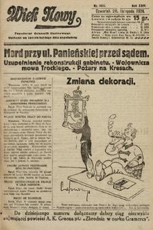 Wiek Nowy : popularny dziennik ilustrowany. 1924, nr7023