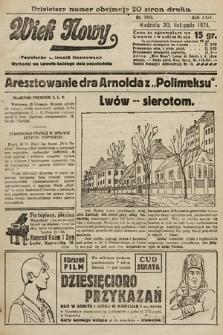 Wiek Nowy : popularny dziennik ilustrowany. 1924, nr7032