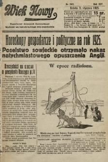 Wiek Nowy : popularny dziennik ilustrowany. 1925, nr7057