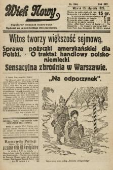 Wiek Nowy : popularny dziennik ilustrowany. 1925, nr7064