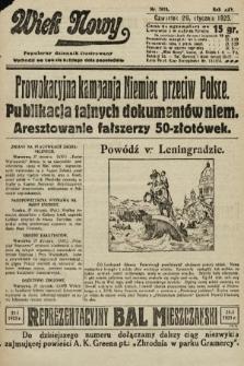 Wiek Nowy : popularny dziennik ilustrowany. 1925, nr7078