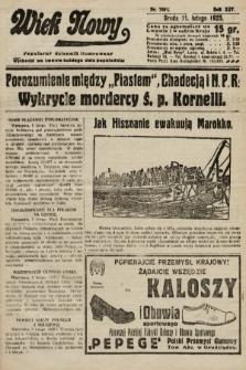 Wiek Nowy : popularny dziennik ilustrowany. 1925, nr7089