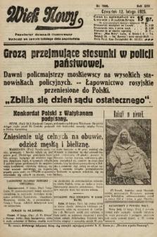 Wiek Nowy : popularny dziennik ilustrowany. 1925, nr7090
