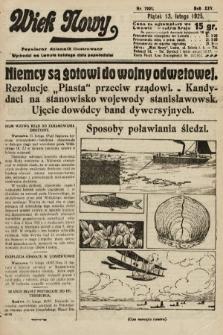Wiek Nowy : popularny dziennik ilustrowany. 1925, nr7091