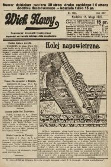 Wiek Nowy : popularny dziennik ilustrowany. 1925, nr7093