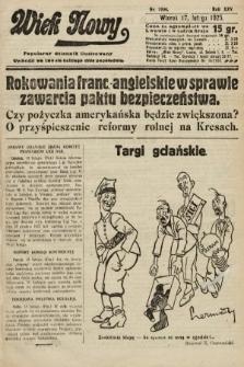 Wiek Nowy : popularny dziennik ilustrowany. 1925, nr7094
