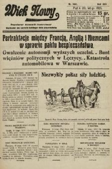 Wiek Nowy : popularny dziennik ilustrowany. 1925, nr7097
