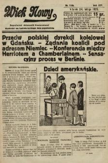 Wiek Nowy : popularny dziennik ilustrowany. 1925, nr7100