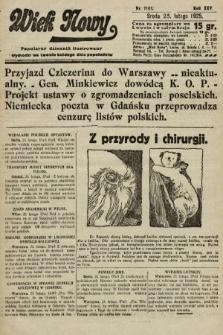 Wiek Nowy : popularny dziennik ilustrowany. 1925, nr7101