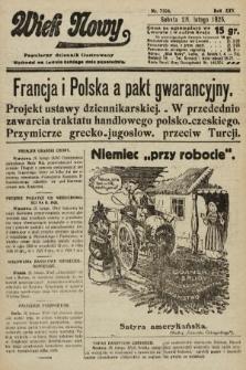Wiek Nowy : popularny dziennik ilustrowany. 1925, nr7104