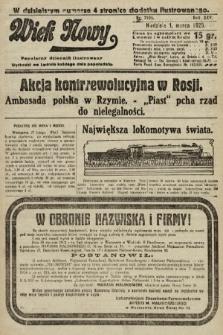 Wiek Nowy : popularny dziennik ilustrowany. 1925, nr7105